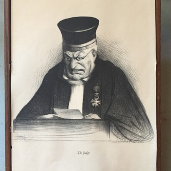 Print of  what appears to be charcoal drawing Titled: The Judge... - Posters and Prints