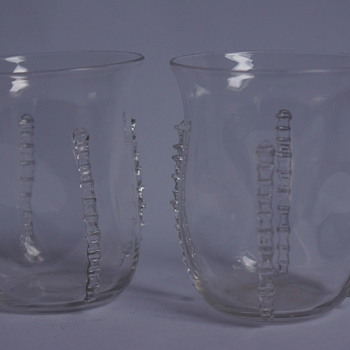 A pair of Whitefriars Tumblers