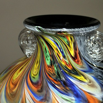 Joetsu Crystal Japan Glass Urn - Art Glass