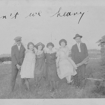 "1923 Fun at Farm . ""Arn't we heavy "" - Photographs"