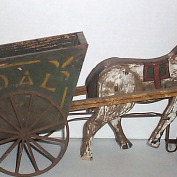 DAD&#039;S TOY HORSE AND BUGGY