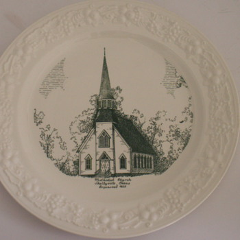 Church Plate, Shelbyville, Texas - China and Dinnerware