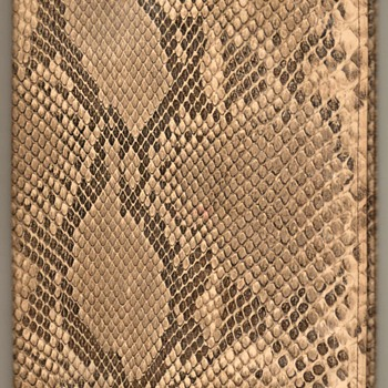 Genuine Snake Skin Book Cover - Books