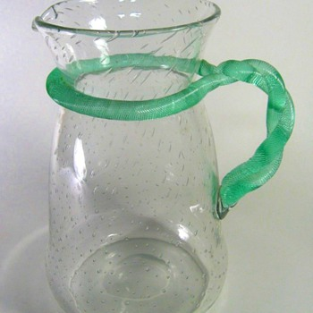 LATE LOETZ PITCHER, SQUARE MARK. - Art Glass