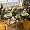 chrome and smoked glass vintage table