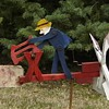 Man Sawing Log Whirligig