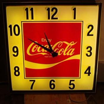 Coca Cola clock - Coca-Cola