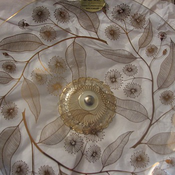 "Floral cristal plate ""Chance Glass"""