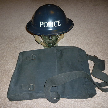 British WW11 Police steel helmet. - Military and Wartime