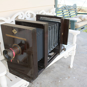 AGFA / Ansco Corp. Wooden Camaera 5X7 - Cameras