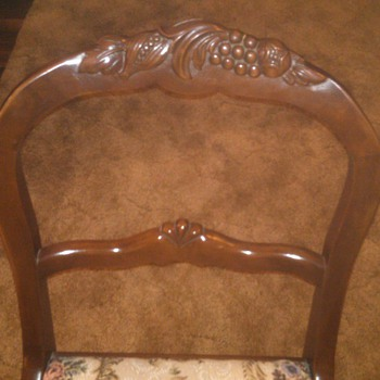 Carved back dining chair from Duncan Phyfe