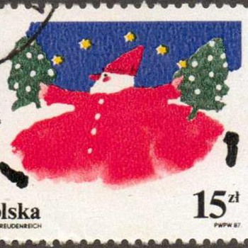 "1987 - Poland ""Christmas"" Postage Stamp - Stamps"