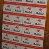 MOBILOIL CO. UNCUT SHEET OF CANS