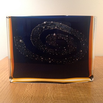 PAVEL HLAVA 'GALAXY' VASE FOR EXBOR  c.1964 - Art Glass