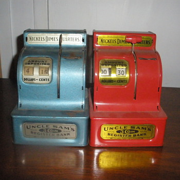 Old Metal Coin Registers - Coin Operated