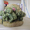 Baby Elephant Pottery Planter