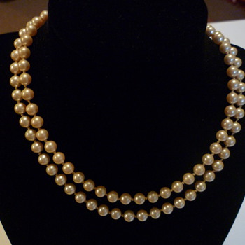Faux pearls by Marvella  - Costume Jewelry