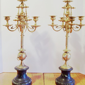 French Table Candleabra - Victorian Era