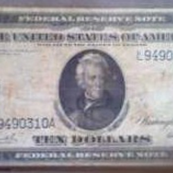 1914 $10 - US Paper Money