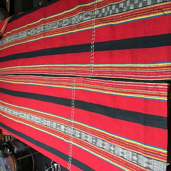 Hand woven South American cotton fabric