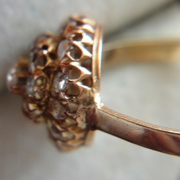 Victorian Rose Cut Diamonds Gold Ring