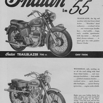 1955 Indian Motorcycle Advertisement - Advertising
