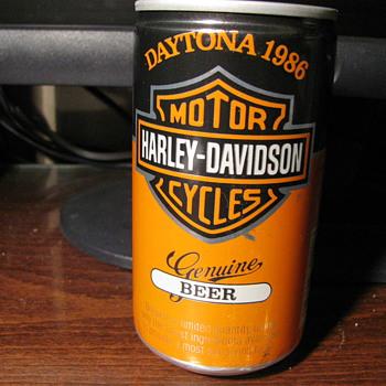 Daytona Harley Davidson unopened Beer cans - Breweriana