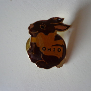 Ohio Bunny Rabit Pin - Medals Pins and Badges