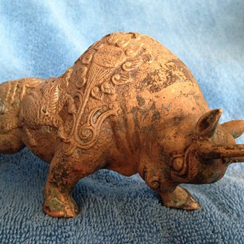 Ancient Antique Bronze Bull