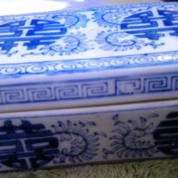Chinese Blue & White Ceramic  box?