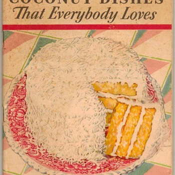 1931 - Baker's Coconut Recipe Book - Books