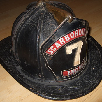 leather fireman hat - Firefighting