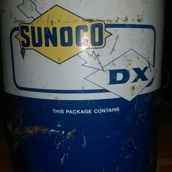 1967 Sunoco 5 gallon container
