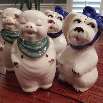 Shawnee Pottery salt & pepper sets