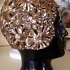 1920's B. ALTMAN, Made in France Gold Sequin Evening Cloche