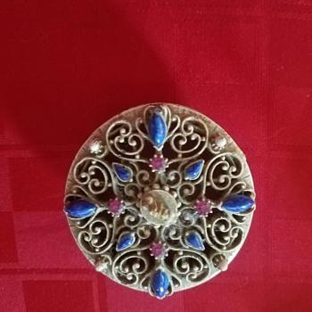 Vintage metal trinket box marked Florenza - 1960's - Accessories