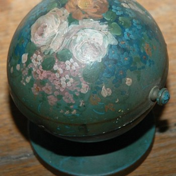 Hand painted metal container