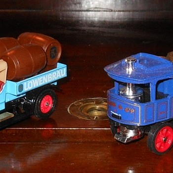 Matchbox Yesteryear Y-18 Atkinson Steam Lorry and Crossley Beer Lorry - Model Cars