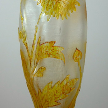Kralik enameled acid cut back vase, ca. 1900 - Art Glass