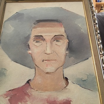 The old lady painting - Visual Art