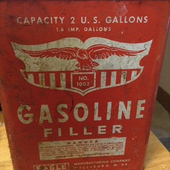Old Eagle Gasoline Filler can