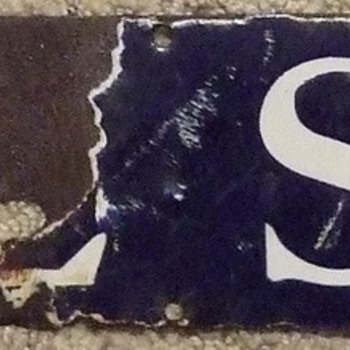 Early 1900's(?) Wool Soap Porcelain Sign - Signs