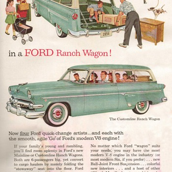 1954 - Ford Ranch Wagon Advertisement