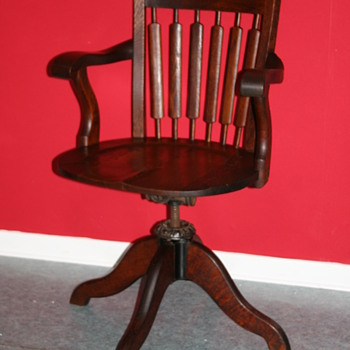 antique old office chair - Furniture