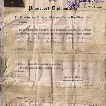 1918 Diplomatic passport