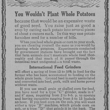 1919 Intl. Harvester Advertisement - Advertising