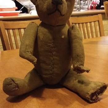 STIEFF BEAR GROWLER NOT WORKING. JOINTED. VERY OLD - Toys