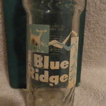 Vintage Blue Ridge Beverages 10oz Glass Soda Bottle Marion Bottling Co Inc - Bottles