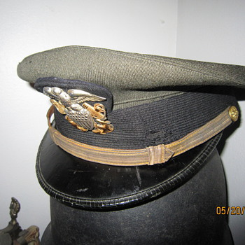 World War Two Ensign Navy Officer Hat