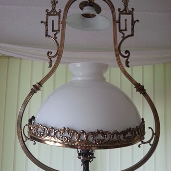 Chinwasori Style Hanging Brass Ceiling Lantern/Converted Gas Lamp